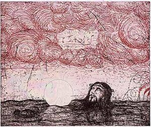 Enrique Chagoya - 'Liberty Club in the Sky', hard ground and spit bite aquatint and etching with drypoint by Enrique Chagoya, 2005
