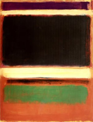 "Mark Rothko - No. 3/No. 13 (Magenta, Black, Green on Orange), 1949, 85 3/8"" × 65"" (216.5 × 164.8 cm), oil on canvas, Museum of Modern Art"