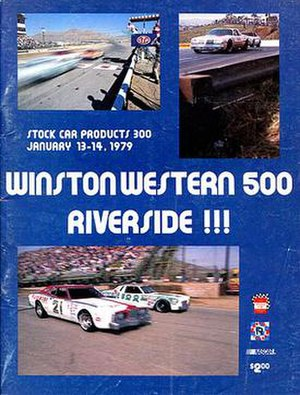 1979 Winston Western 500 - Souvenir magazine cover of the 1979 Winston Western 500