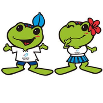 2009 Summer Deaflympics - The banyan leaf and azalea flower worn by the mascots are Taipei's official tree and flower.