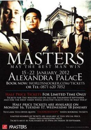 2012 Masters (snooker) - Image: 2012 Masters (snooker) poster