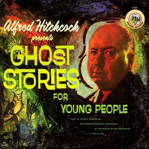 Alfred Hitchcock Presents - Cover of Alfred Hitchcock Presents Ghost Stories for Young People (Golden Records, 1962)