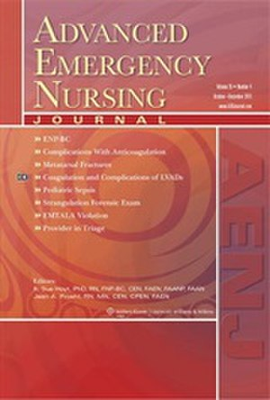 Advanced Emergency Nursing Journal - Image: Advanced Emergency Nursing Journal cover