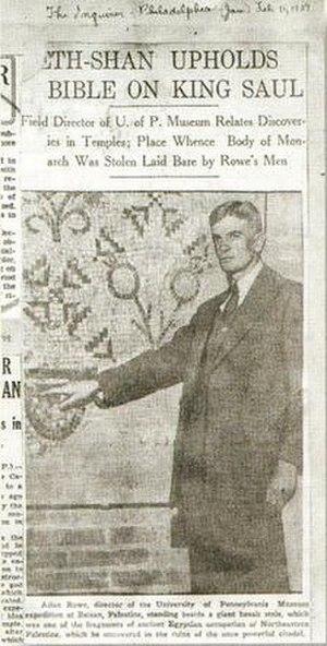Alan Rowe (archaeologist) - Image: Alan Rowe Philadelphia Inquirer