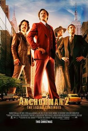 Anchorman 2: The Legend Continues - Theatrical release poster