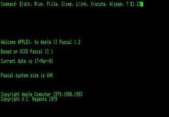 Apple Pascal - Image: Apple Pascal 1.2