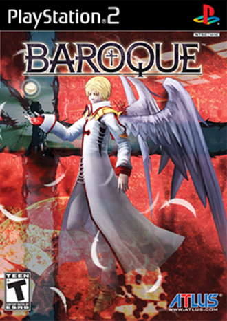 Baroque (video game) - PS2 North American cover art featuring Advanced Angel
