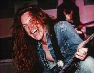 Cliff Burton - Burton during a concert in 1986