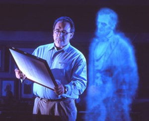 Bob Rogers (designer) - Bob Rogers interacts with a ghostly Abraham Lincoln.