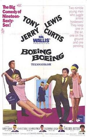 Boeing Boeing (1965 film) - Film poster by Jack Rickard