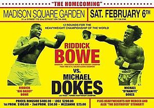Riddick Bowe vs. Michael Dokes