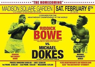 Riddick Bowe vs. Michael Dokes Boxing competition