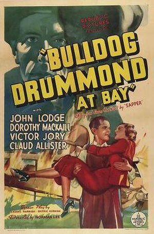 Bulldog Drummond at Bay (1937 film) - Film poster