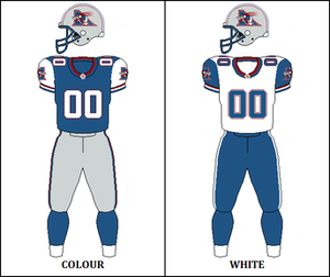 1998 Montreal Alouettes season - Image: CFL MTL Jersey 1996