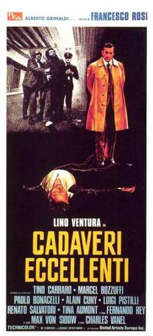 Illustrious Corpses - Italian film poster