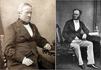 Cooke and Wheatstone telegraph - Wheatstone (left) and Cooke (right)
