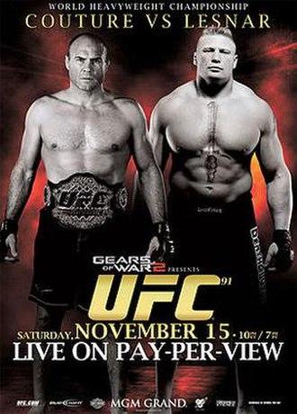 UFC 91 - Image: Couture Lesnar UFC 91