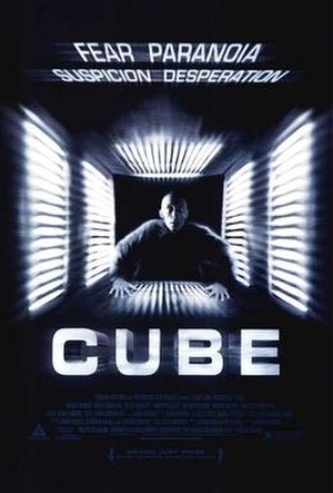Cube (film) - Theatrical release poster