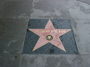 The Dead End Kids' star on Hollywood's Walk of...