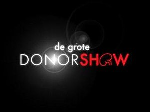 "De Grote Donorshow - The Great Donor Show logo (note the ""o""'s substitution by the logo of the Dutch Kidney Foundation)"