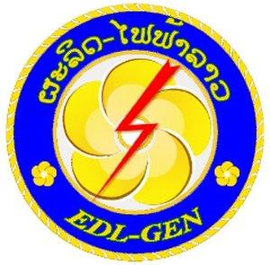 Électricité du Laos -  EDL logo.
