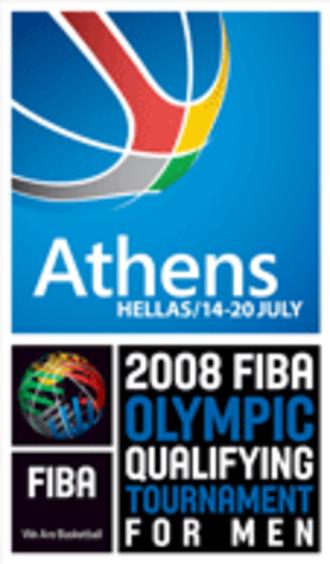 2008 FIBA World Olympic Qualifying Tournament for Men - Image: FIB Aoc 08 logo