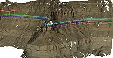 An example of a digital outcrop model with geological interpretations, near to Green River, Utah, USA.