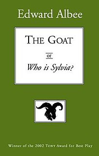 <i>The Goat, or Who Is Sylvia?</i> Play written by Edward Albee