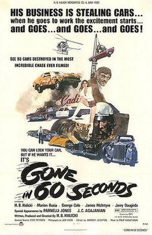 Gone in 60 Seconds (1974 film) - Theatrical release poster