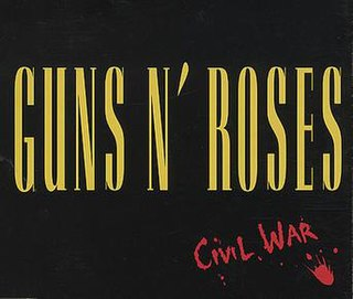 Civil War (song) 1990 Guns n' Roses song