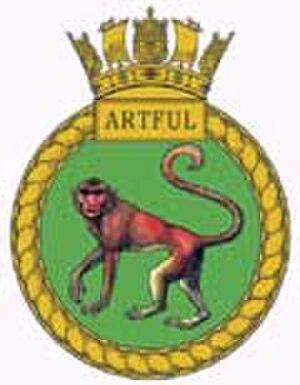 HMS Artful (S121) - Image: HMS Artful badge