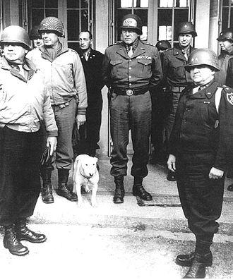 Paul D. Harkins - Third US Army staff, Harkins right rear
