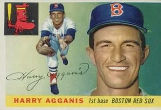 Harry Agganis - Image: Harry Agganis 55 Topps 152