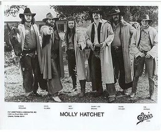 Molly Hatchet - Molly Hatchet dressed as Western gunslingers for a promo shoot in 1982