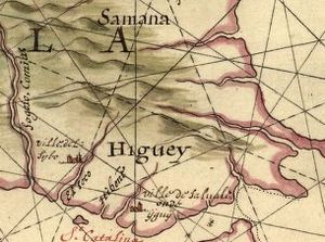 Terrain cartography - From a 1639 map of Hispaniola by Joan Vinckenboons, showing use of hill profiles