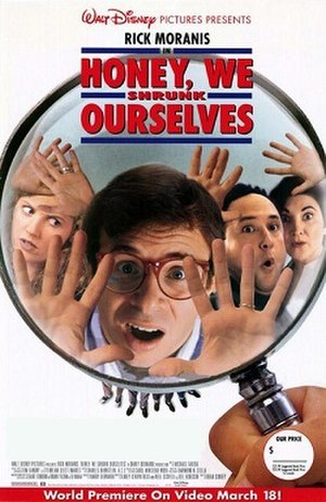 Honey, We Shrunk Ourselves - Home video release poster