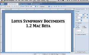 IBM Lotus Symphony - Lotus Symphony Documents 1.2 Beta on Mac OS X