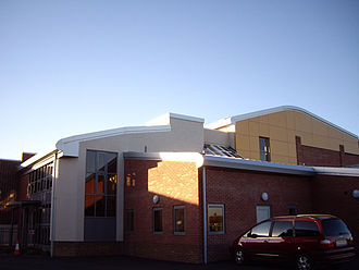 Ilford County High School - Side view of the new Sports Hall