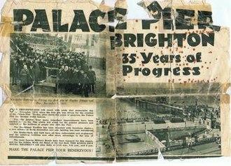 Brighton Palace Pier - Inaugural Ceremony of Brighton Marine Palace and Pier, 1891