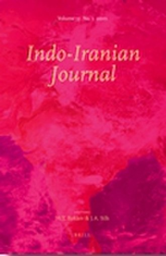 Indo-Iranian Journal - Image: Indo Iranian Journal Cover