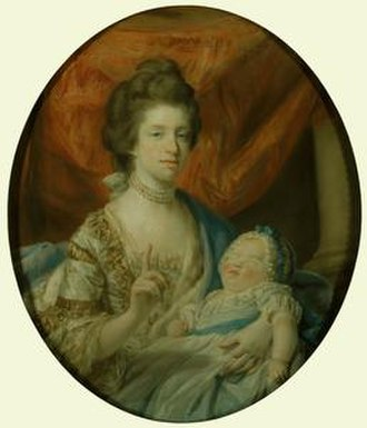 1767 in art - Image: Infant Charlotte Princess Royal with her mother Queen Charlotte