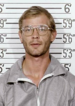 Jeffrey Dahmer - Mug shot of Dahmer taken by the Milwaukee Police Department on his 1991 arrest