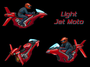 Jet Moto - Concept art of a light jet moto for Jet Moto 2124.  Art by Laura Janczewski.