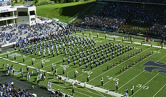 "Kansas State University Marching Band - The 2006 KSU Marching Band marching in block band to ""Wildcat Victory"""