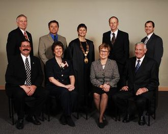 Kelowna City Council - 2005-2008 Back (l-r): Colin Day, Andre Blanleil, Mayor Sharon Shepherd, Robert Hobson, Norm Letnick   Front (l-r): Brian Given, Michele Rule, Carol Gran, Barrie Clark