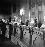 Prime Minister William Lyon Mackenzie King becomes the first person to take the Oath of Citizenship, from Chief Justice Thibaudeau Rinfret, in the Supreme Court, January 3, 1947