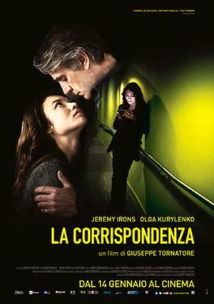 The Correspondence - Italian theatrical release poster