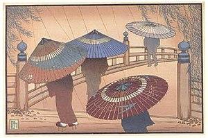 Lilian May Miller - Lilian May Miller, Rain Blossoms, color woodprint, 1928