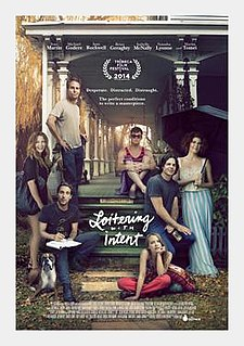 <i>Loitering with Intent</i> (film) 2014 film by Adam Rapp