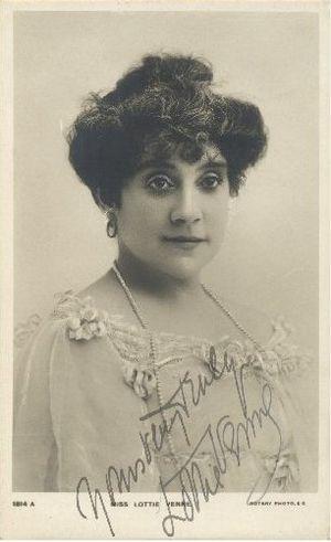 Lottie Venne - Lottie Venne in a Rotary postcard, c. 1910